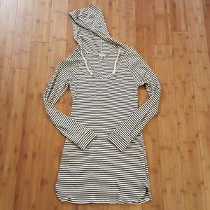 Striped hoody dress